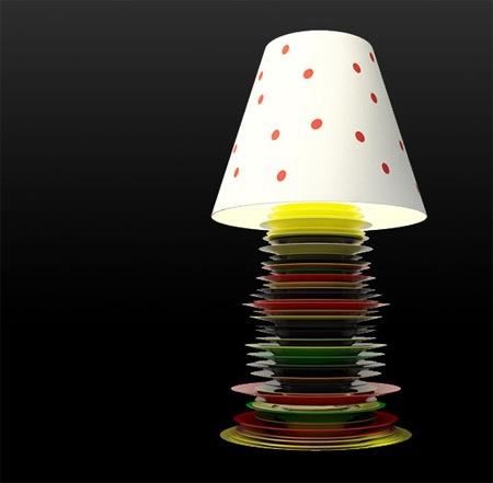 Оригинальный торшер и настольная лампа