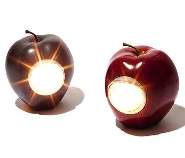 Настольная лампа светящееся яблоко