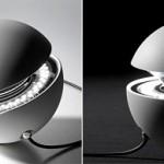 Настольная лампа в виде шара с LED диодами внутри