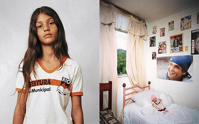 Бразильская девочка и её детская комната