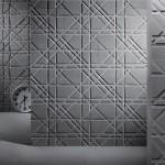 Рисунок на стене из плиток песчанника