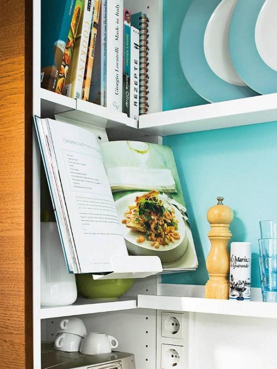 Кухня в бирюзовом цвете, уют и современность