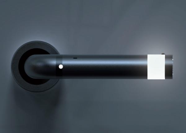 Дверная ручка с LED подсветкой