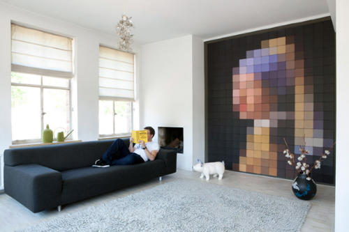 Фото-обои на стену из квадратов