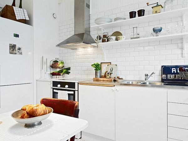 Белая скандинавская кухня