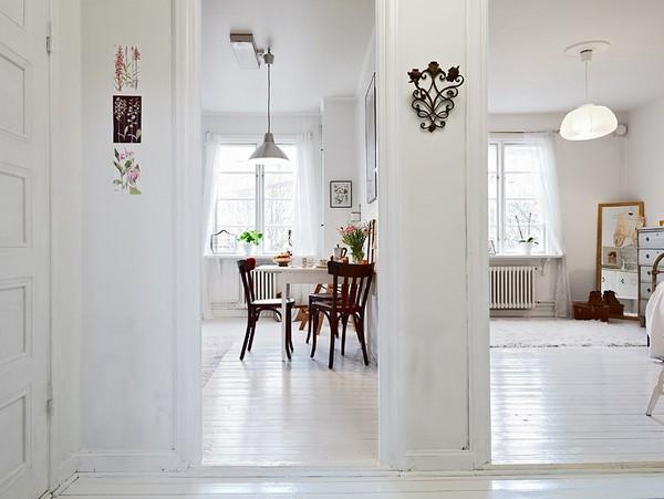 Пример дизайна интерьера маленькой однокомнатной квартиры с фото