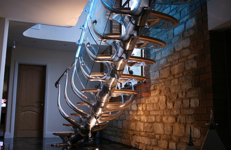 Оригинальная лестница авторской работы