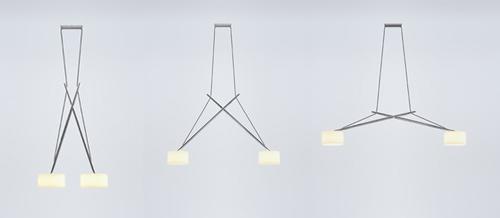 Регулиреумая по высоте и ширине лампа для кухни
