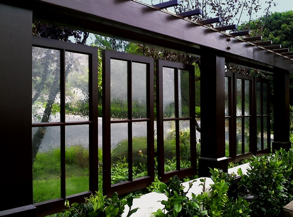 Застекленные сдвижные окна в качестве перегородок