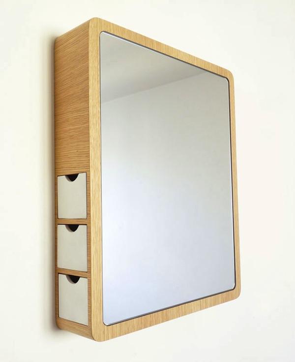 Зеркало в толстой рамке полое внутри