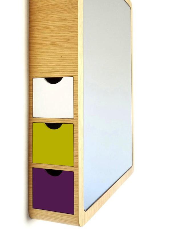 Удобное небольшое зеркало для прихожей или ванной комнаты