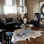 Черный в дизайне гостиной