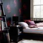 Пример черного цвета в оформлениии спальни