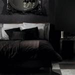 Оформление спальни в черном цвете