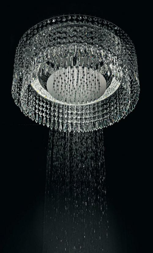 Вертикальный душ большого диаметра