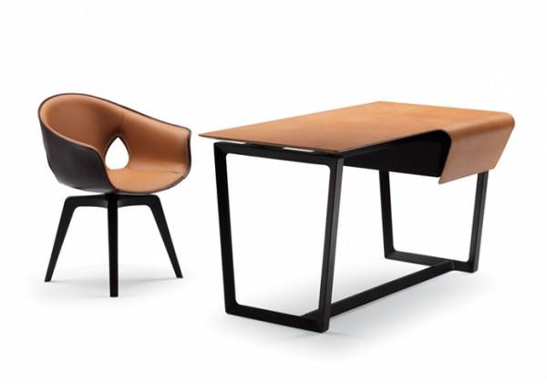 Кресло для офиса стол с кожаным покрытием