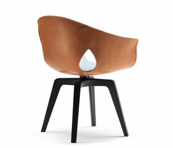 Офисное кресло из кожи ручной выделки