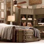 Стеллажи, шкаф и секретер стилизованные под дорожные чемоданы