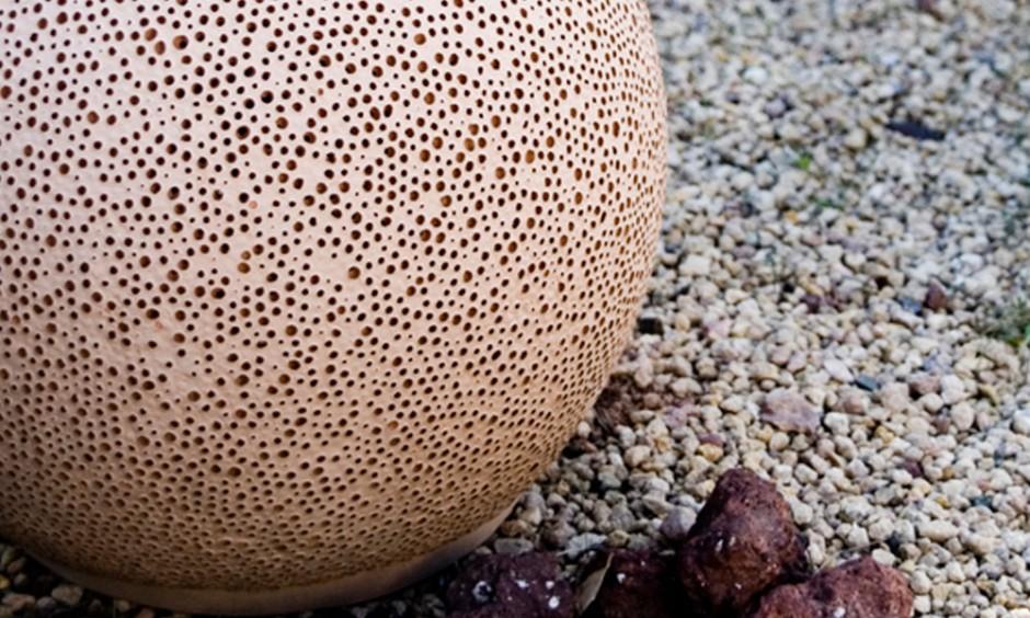 Керамический садовый светильник