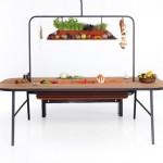 Открытый кухонный стол -- столешница