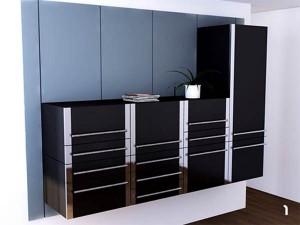 Сдвигающиеся кухонные шкафы
