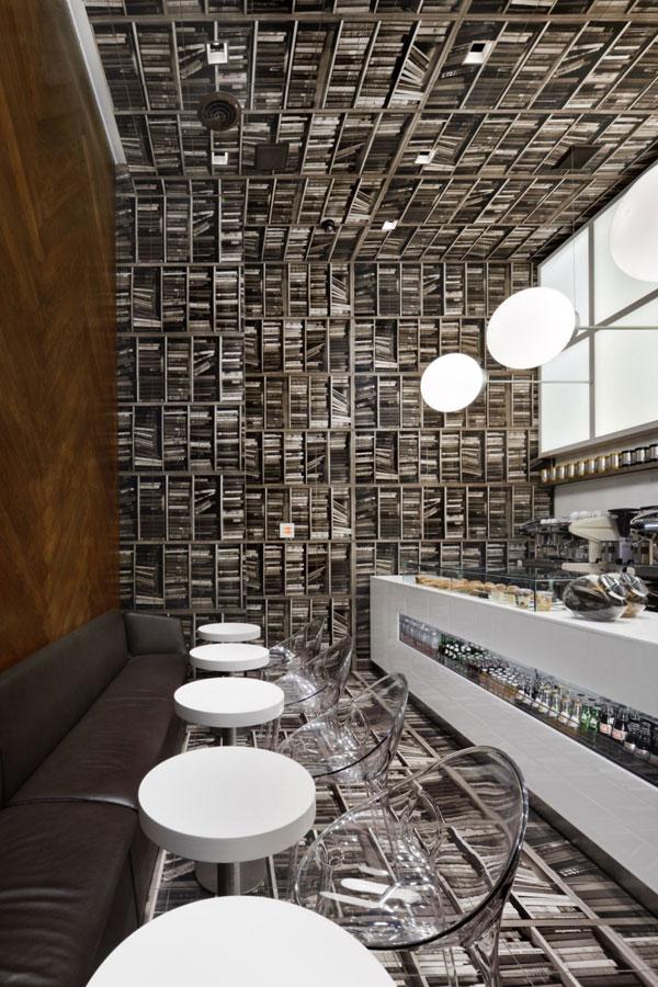 Фотообои в оформлении интерьера кафе