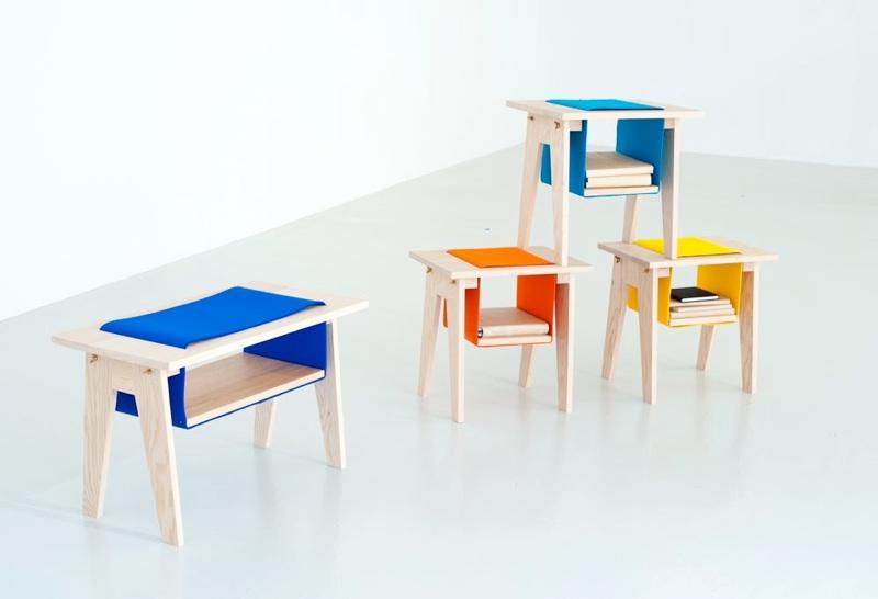 Разноцветная мебель для детей и взрослых