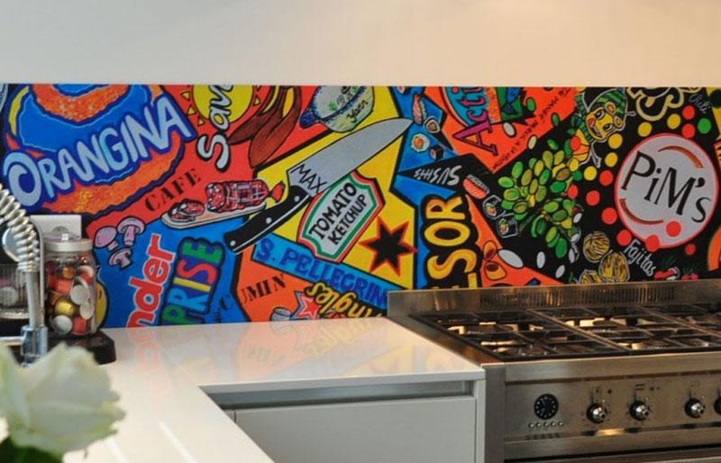 Яркая виниловая наклейка для кухни