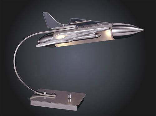 Лампа своими руками в виде реактивного истребителя