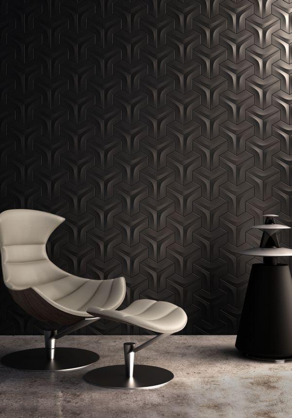 Плитка темного цвета с объемнвми гранями