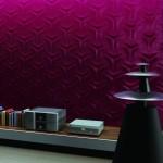 Керамическая плитка бордового цвета для гостиной