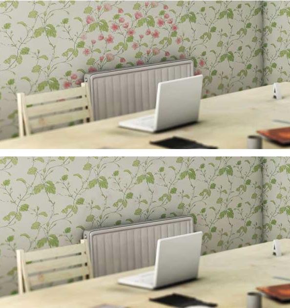 Обои на стены напечатеанные специальной краской, реагирующей на тепло