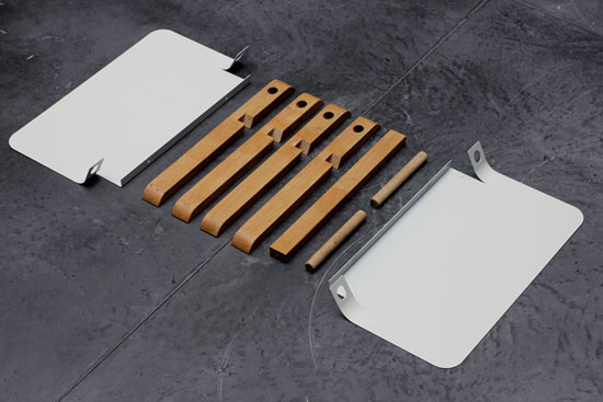 Раскладной стол из простых деталей