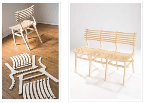 Сборно-разборный стул простой конструкции