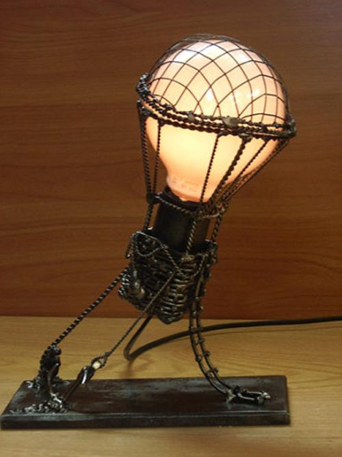 Самодельная настольная лампа в стиле стимпанк