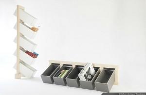 Ящики для хранения легко меняют горизонтальное и вертикальное расположение