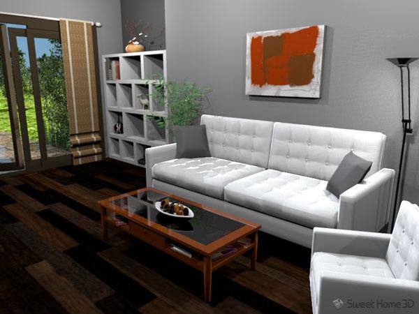 Пример интерьера созданного с помощью компьютерного моделирования