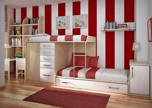 Современная детская мебель. Двухъярусная кровать со шкафом и местом для хранения