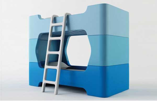 Разборная детская 2-ярусная кровать из стандартных элементов