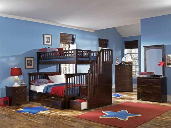 Массивная десткая 2-ярусная кровать