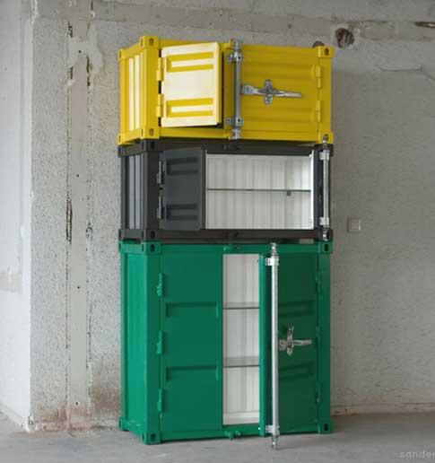 Шкафы стеллажи с дверцами из грузовых контейнеров
