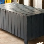 Table of planks from pallets