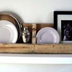 Kitchen Shelves made of wooden pallets