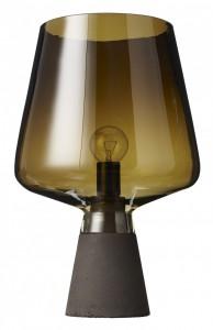 Плафон настольной лампы из полупрозрачного темного стекла