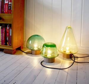 Лампы с разноцветными стеклянными плафонами