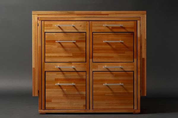 Набор компактной деревянной мебели