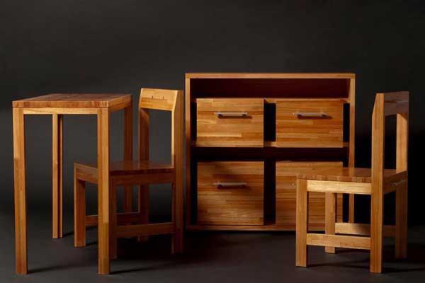 Набор деревянной мебели с рабочим столом