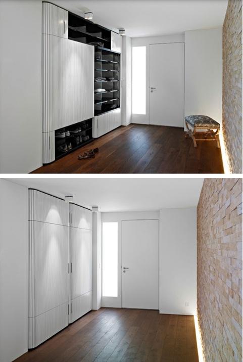 Шкаф с фигурными раздвижными дверями