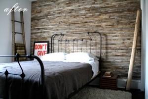Фактура старых досок в оформлении стен, тенденции 2012 года