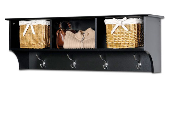 Вешалка для прихожей с местами для хранения вещей